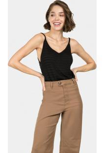 Calça Jeans Wide Leg Duo Core Marrom - Lez A Lez