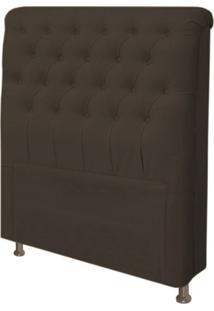 Cabeceira Para Cama Box Solteiro 100 Cm Paris Corino Marrom - Js Móveis