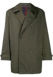 Y/Project Trench Coat Com Abotoamento Duplo - Verde