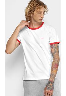 Camiseta Manga Curta Coca-Cola Estampada Masculina - Masculino-Branco