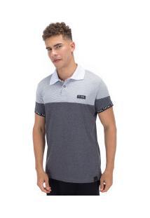 Camisa Polo Fatal Especial 20635 - Masculina - Branco/Cinza Esc