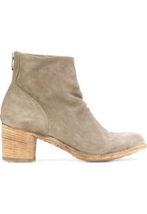 Officine Creative Ankle Boot De Camurça - Nude & Neutrals