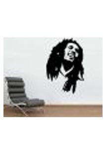 Adesivo De Parede Bob Marley - G 100X70Cm