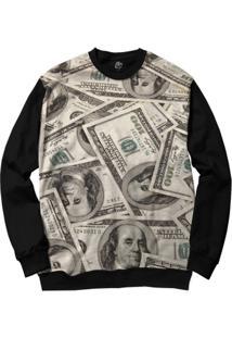 Blusa Bsc Make Money Full Print - Masculino-Preto