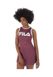 Vestido Fila Sport Stripe - Adulto - Vermelho/Branco