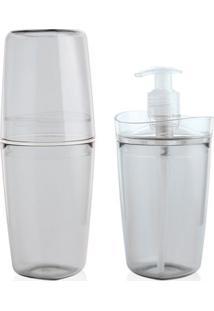 Conjunto Para Banheiro Martiplast Tule Cristal Com 2 Peças Unica