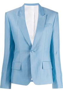 Haider Ackermann Blazer De Alfaiataria Com Abotoamento Simples - Azul