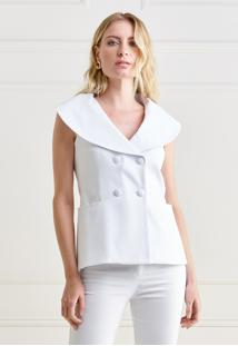 Colete Mx Fashion Sarja Piquet Thamires Off White - Tricae