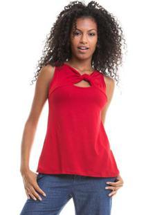 Blusa Lisa Cavada Vermelho