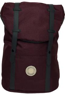 Mochila La Moustache Backpack Burgundy Bordô