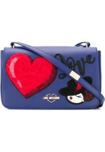 Love Moschino Bolsa Transversal 'Love' - Azul