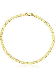 Pulseira Masculina Ouro Amarelo 21 Cm