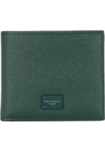 Dolce & Gabbana Carteira Dobrável Com Placa De Logo - Verde