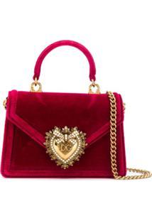 Dolce & Gabbana Bolsa Devotion Pequena - Vermelho