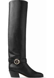 Jimmy Choo Bota Over-The-Knee Beca - Preto