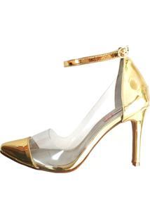 Scarpin Blume Cristal Dourado