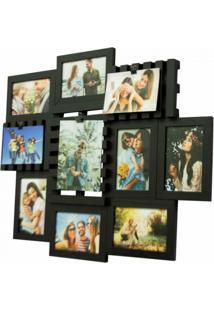 Painel Pallet 10 Fotos Preto