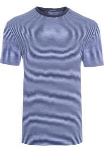 Camiseta Masculina Stripes Blocks - Azul