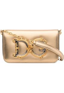 Dolce & Gabbana Bolsa Transversal Dg Girl - Dourado
