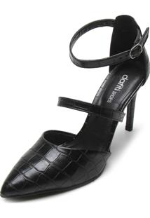 Scarpin Dafiti Shoes Croco Preto