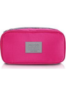 Bolsa Jacki Design Porta Lingerie De Poliéster - Unissex-Pink