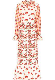 Helmstedt Vestido Longo Com Estampa De Piquenique - Vermelho