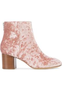 Rag & Bone Ankle Boot De Couro - Rosa