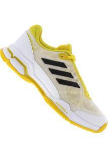 Tênis Adidas Barricade Club - Masculino - Branco/Amarelo