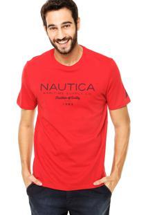 Camiseta Nautica Classic Fit Tradition Vermelha