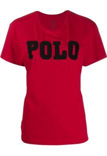 Polo Ralph Lauren Camiseta Com Logo De Contas - Vermelho