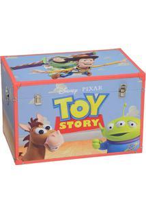 Baú Toy Story®- Azul Claro & Vermelha- 40X60X40Cm