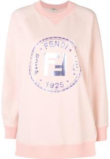 Fendi Blusa De Moletom Com Logo 'Ff' - Rosa