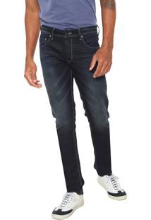 Calça Jeans Sergio K Reta Mustache Azul