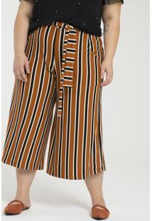 Calça Pantacourt Listrada Curve & Plus Size