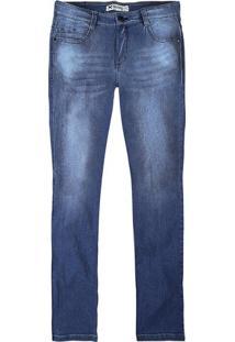Calça Masculina Hering Em Jeans Skinny Com Efeito Amassado