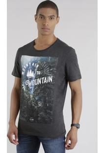 "Camiseta ""Mountain To Mountain"" Chumbo"