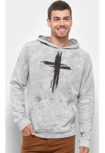 Blusa Moletom Bossa Brasil The Cross Canguru Masculina - Masculino
