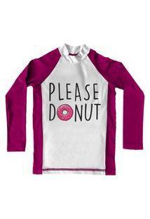 Camiseta De Lycra Comfy Please Donut Rosa