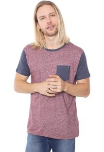 Camiseta Billabong Staple Vinho/Cinza