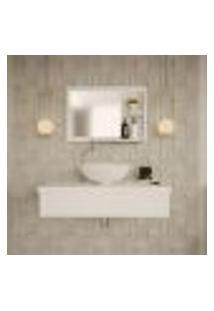 Conjunto Para Banheiro Bancada Com Espelheira City 802 Branco Chess