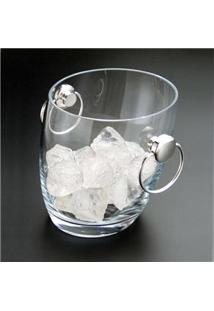 Balde Para Gelo Wolff 8182 Em Vidro Transparente - 1,8 L
