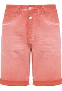 Bermuda Masculina Jeans - Vermelho