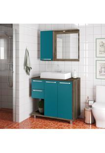 Conjunto De Banheiro Stm Móveis L09 Monastrel Esmeralda Se
