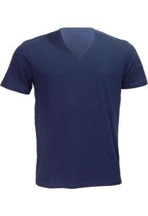 Camiseta Alma De Praia Gola V Flame Azul -Gg - Masculino
