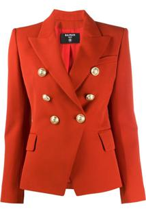 Balmain Double-Breasted Blazer - Laranja