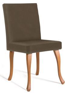 Cadeira De Jantar Leonardo Da Vinci I Liso Cetim Dourado