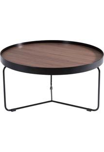 Mesa De Centro Orbit Base Aço Carbono Design Minimalista