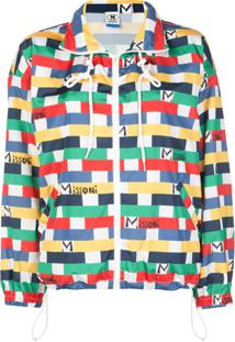 M Missoni Jaqueta Com Estampa De Logo - Estampado