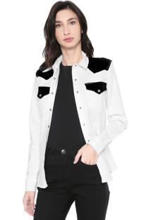 Camisa Sarja Calvin Klein Jeans Bolsos Branca/Preta