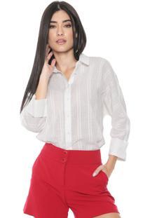 Camisa Colcci Padronagens Off-White